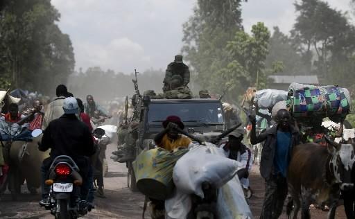 Des réfugiés arrivent à Goma au Congo.... (Photo: AFP)