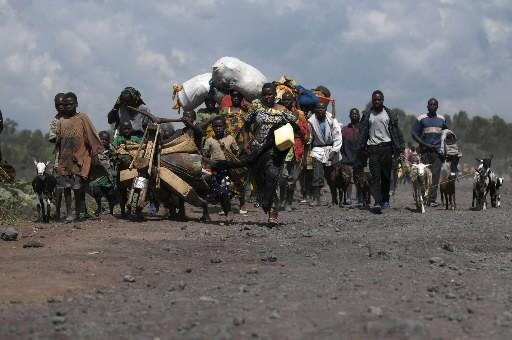 Les Congolais fuient Goma... (Photo: AFP)