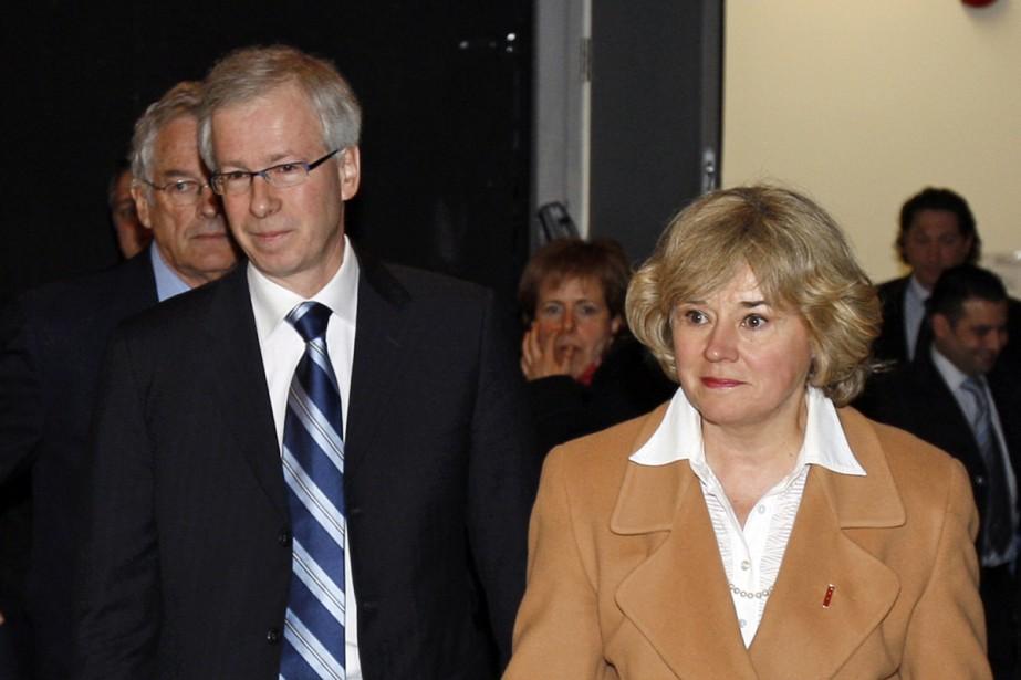 Stéphane Dion et Céline Hervieux-Payette.... (Archives La Presse Canadienne)