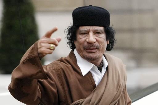 Moamer Kadhafi... (Photo: AFP)