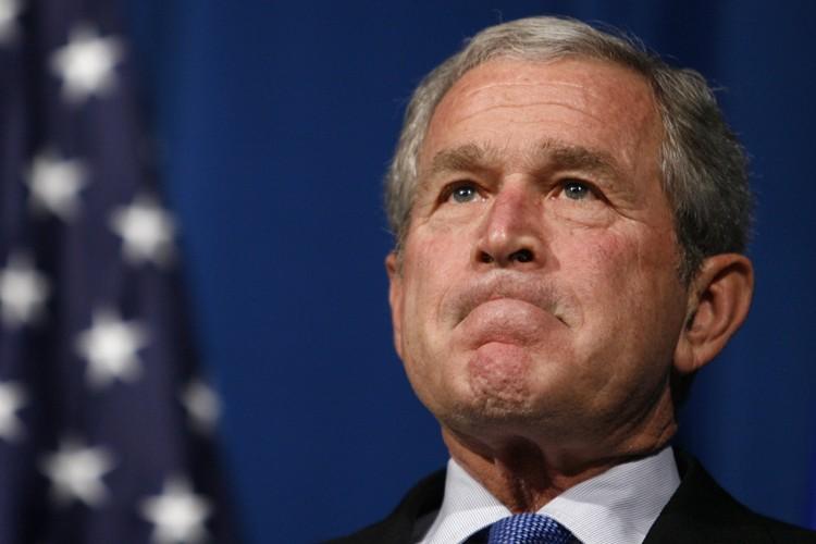 George W. Bush a prononcé un discours devant... (Photo: Reuters)