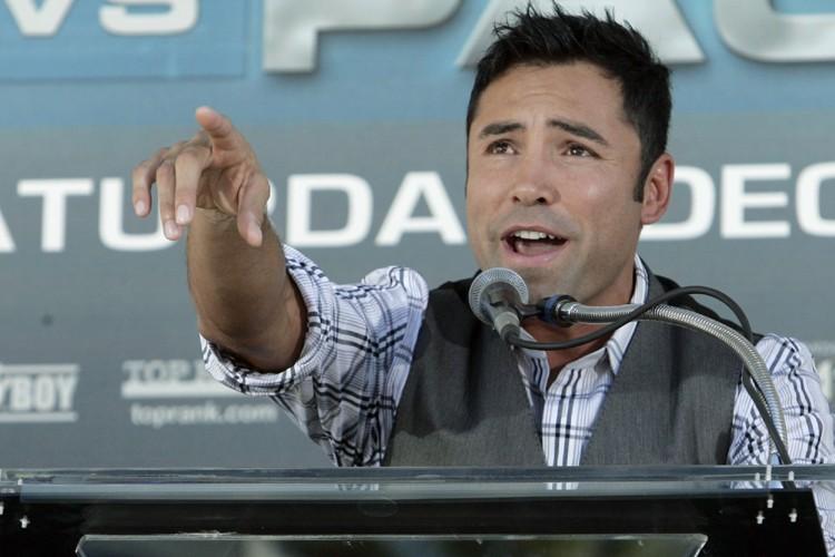 Oscar de la Hoya affrontera Manny Pacquiao le... (Photo: AP)