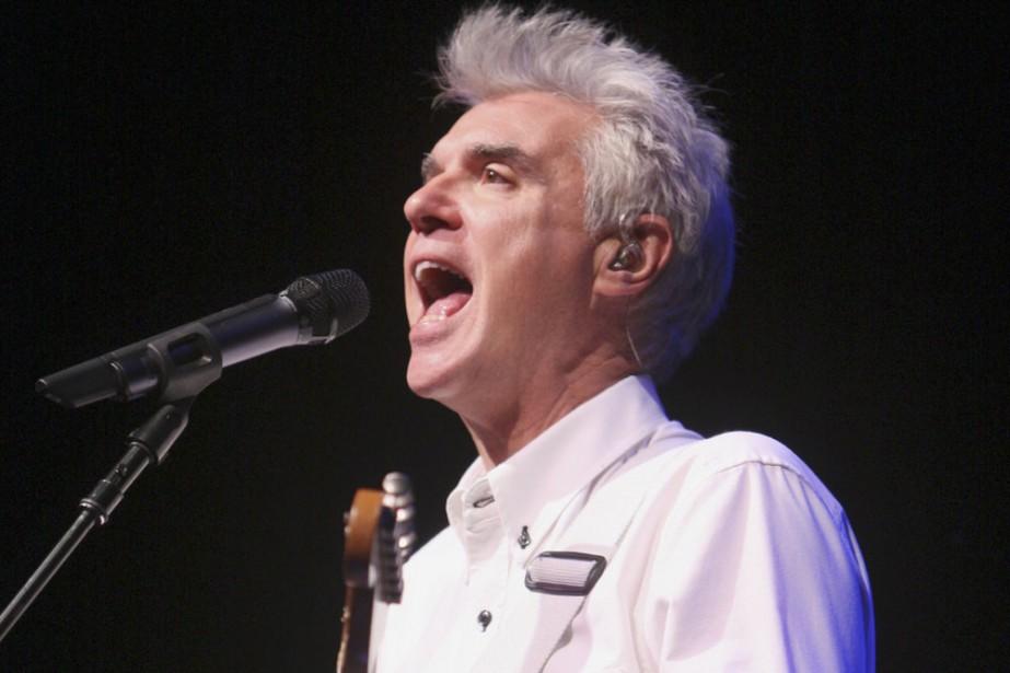 David Byrne est en phase avec l'époque actuelle:... (Photo: Martin Chamberland, La Presse)