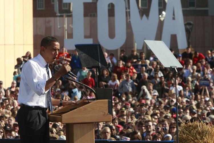 Barack Obama a dénoncé au cours d'un rassemblement... (Photo: Reuters)