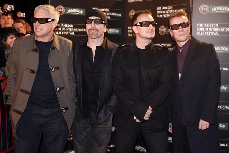 Les membres du groupe U2: Adam Clayton, The... (Photo: AFP)