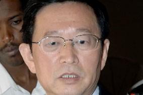 L'ambassadeur Li Chengwen... (Photo: AFP)