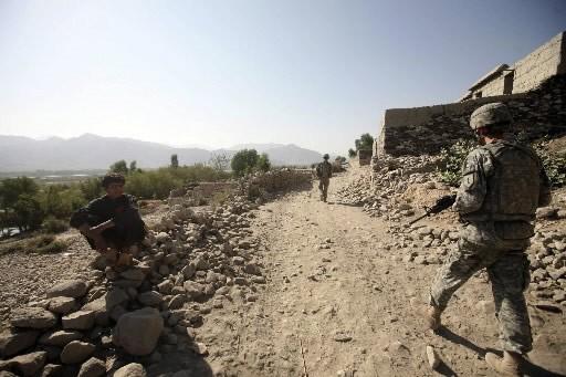 Ce soldat américain patrouille la province de Kunar... (Photo: AP)