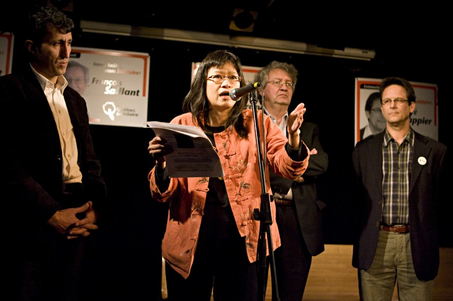 La nouvelle candidate de Québec solidaire May Chiu... (Photo: François Roy, La Presse)