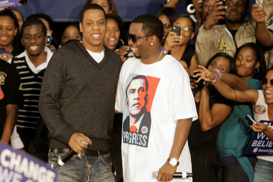 Jay-Z et Sean «Diddy» Combs... (Photo: AP)