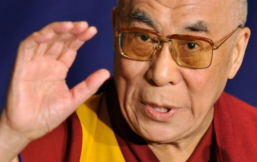 Le dalaï lama... (Photo: AFP)