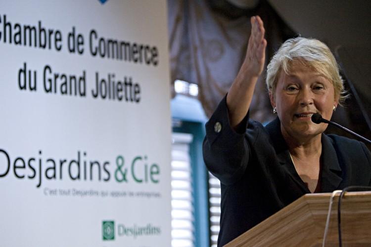 Pauline Marois a prononcé une allocution à forte... (Photo: François Roy, La Presse)