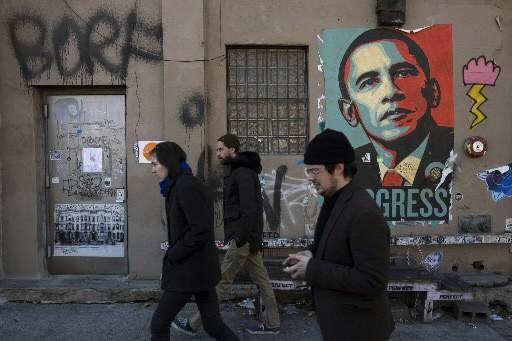 L'image de Barack Obama est partout à New... (Photo: AP)