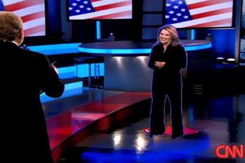Jessica Yellin en hologramme sur CNN... (CNN)