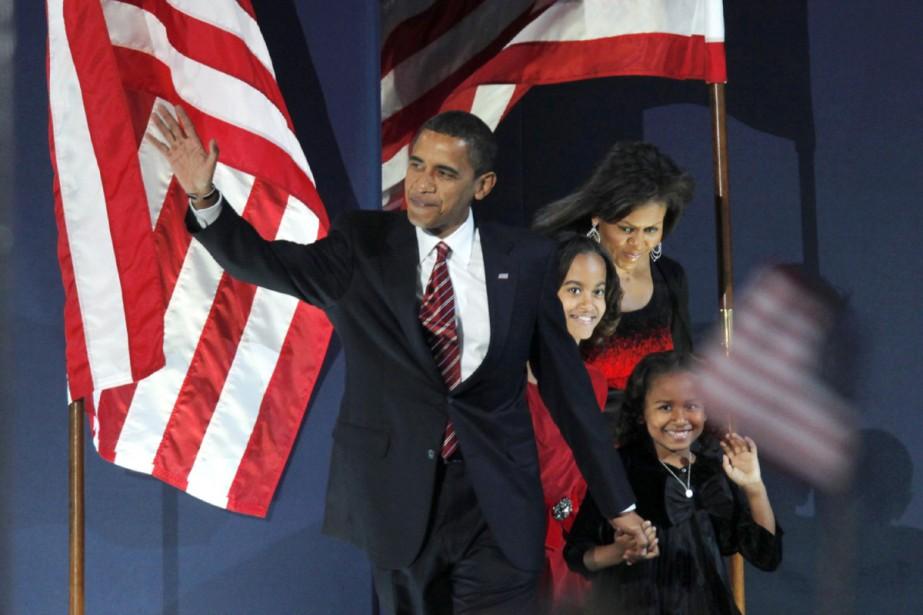 Barack Obama est apparu sur la scène à... (Photo AFP)
