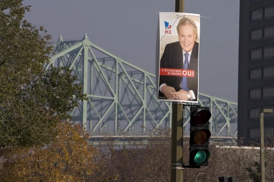 Les pancartes électorales fédérales ont à... (Photo: Alain Roberge, La Presse)