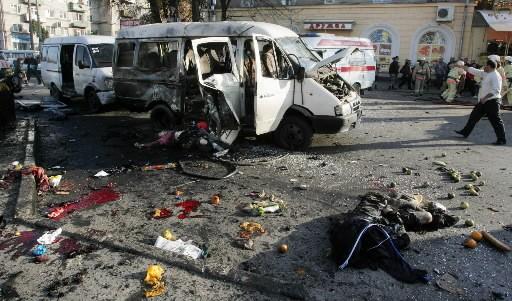 Un bus a explosé à Vladikavkaz.... (Photo: AFP)