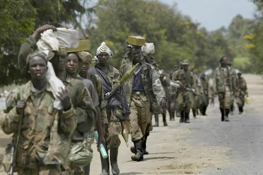Des soldats du général congolais rebelle Laurent Knunda... (Photo: AP)