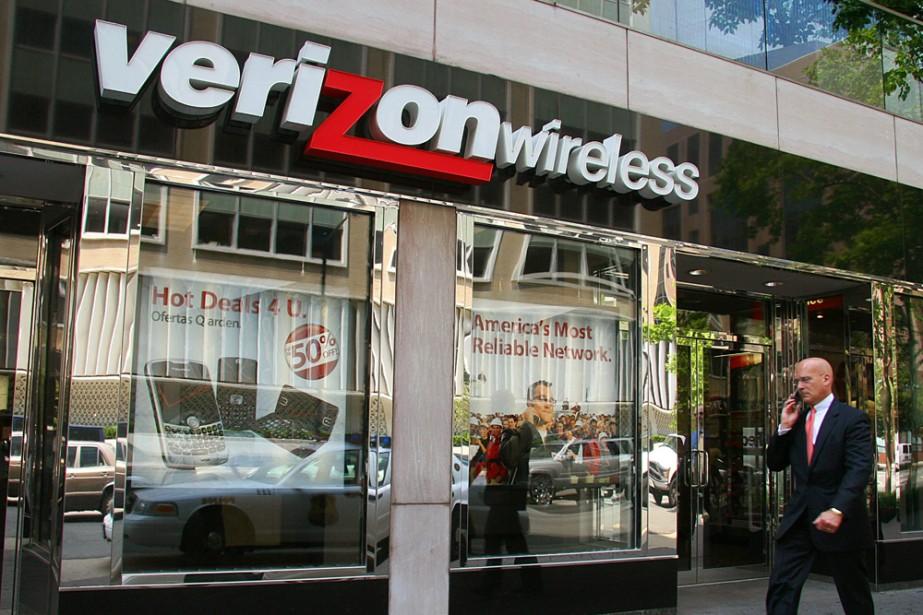 Un magasin Verizon à Washington.... (AFP)