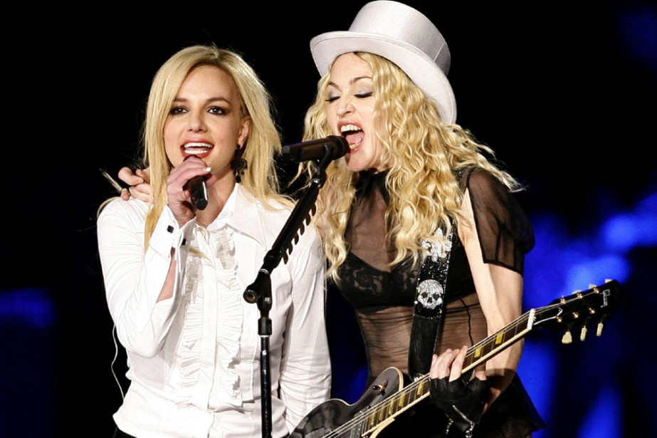 Madonna était accompagnée sur scène par Britney Spears.... (Photo: Reuters)