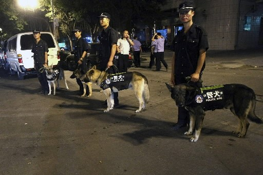 La situation était redevenue calme samedi à Shenzhen, dans le sud... (Photo: AP)