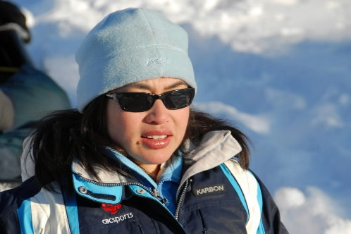 Mellissa Fung à Fort Selkirk, au Yukon.... (Photo fournie par la CBC)