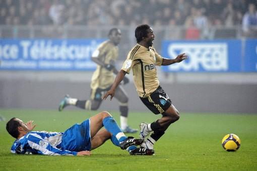 Mamadou Niang, de Marseille a réussi a s'échapper... (Photo: AFP)