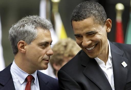 Barack Obama et son chef de cabinet, Rahm... (Photo: AP)
