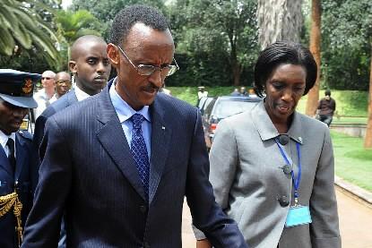 Paul Kagame et Rose Kabuye... (Photo: AFP)