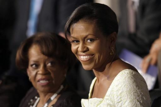 Michelle Obama et sa mère Marian Robinson... (Photo: AP)