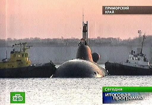 Le Nerpa, sous-marin russe... (Photo: AP)