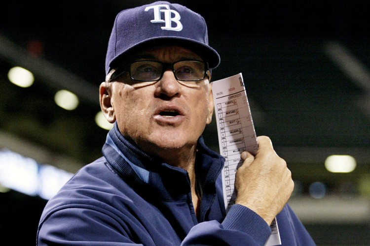 Le gérant des Rays de Tampa Bay, Joe... (Photo: Reuters)