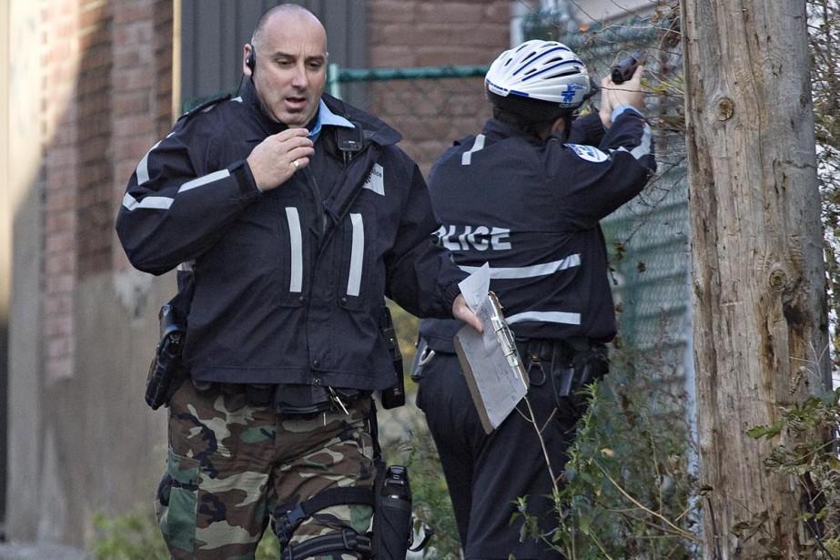 Une opération policière est actuellement... (Photo: Patrick Sanfaçon, La Presse)
