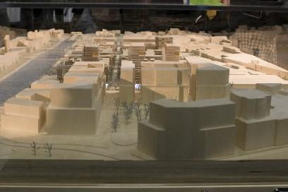 La maquette du projet... (Photo Rémi Lemée, La Presse)