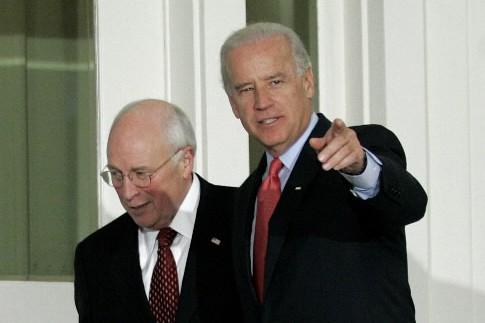 Dick Cheney (droite) et Joe Biden... (Photo Reuters)