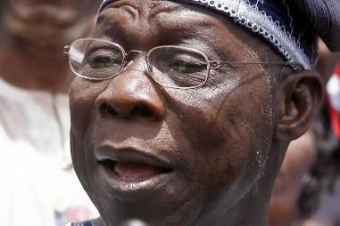Olusegun Obasanjo, ancien président du Nigeria... (Photo: AFP)