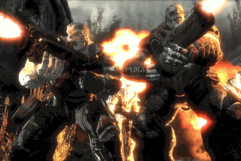 Le jeu Gears Of War II... (Softpedia.com)
