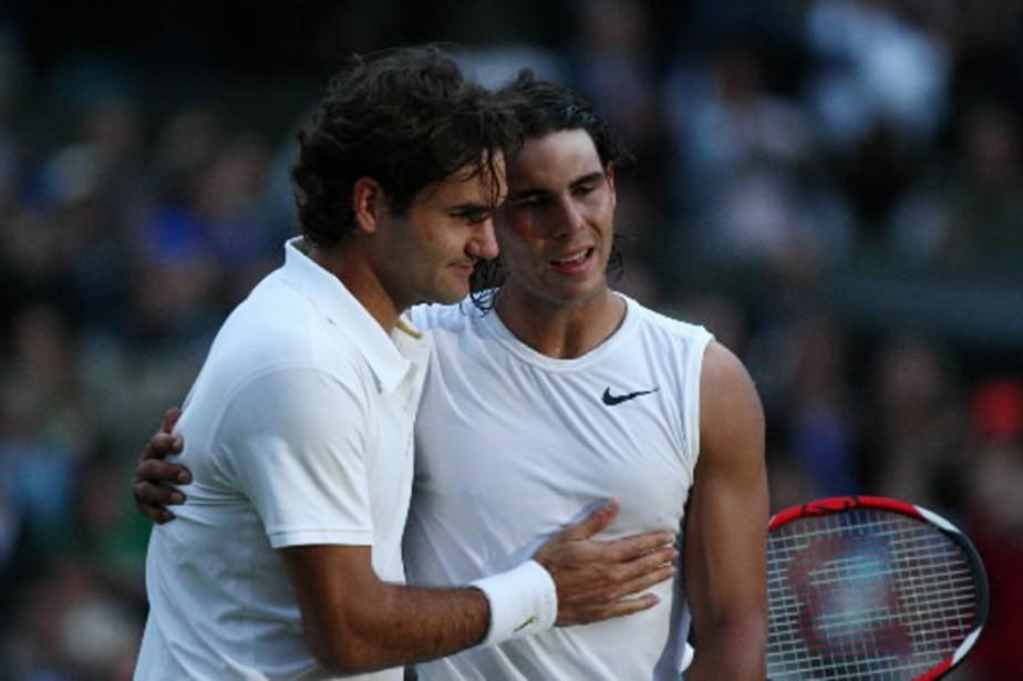 Rafael Nadal et Roger Federer... (Photo: AFP)