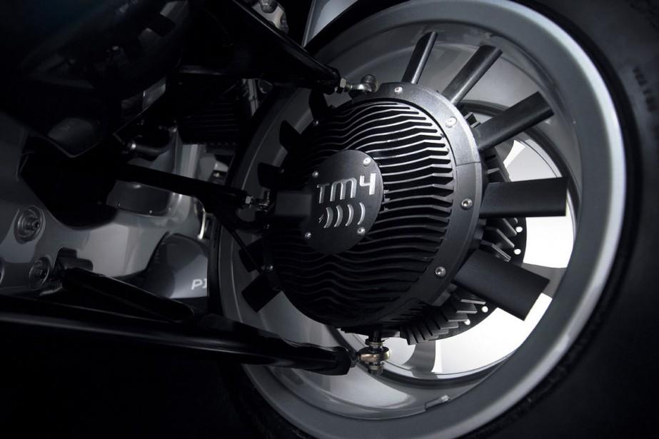 Le moteur-roue mis au point par l'équipe d'Hydro-Québec,... (Photo Fournie par TM4)