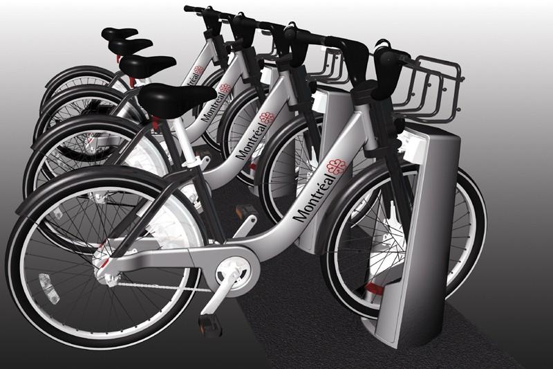 Le service de vélos publics montréalais Bixi... (Ville de Montréal)