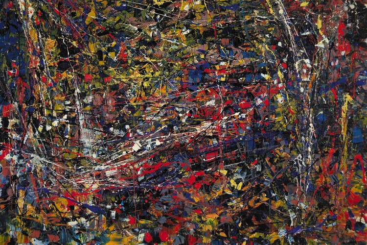 La toile Sans titre (Composition #2) de Riopelle... (Photo: PC)