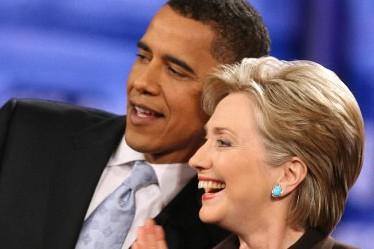 Barack Obama et Hillary Clinton... (Photo: Archives AP)