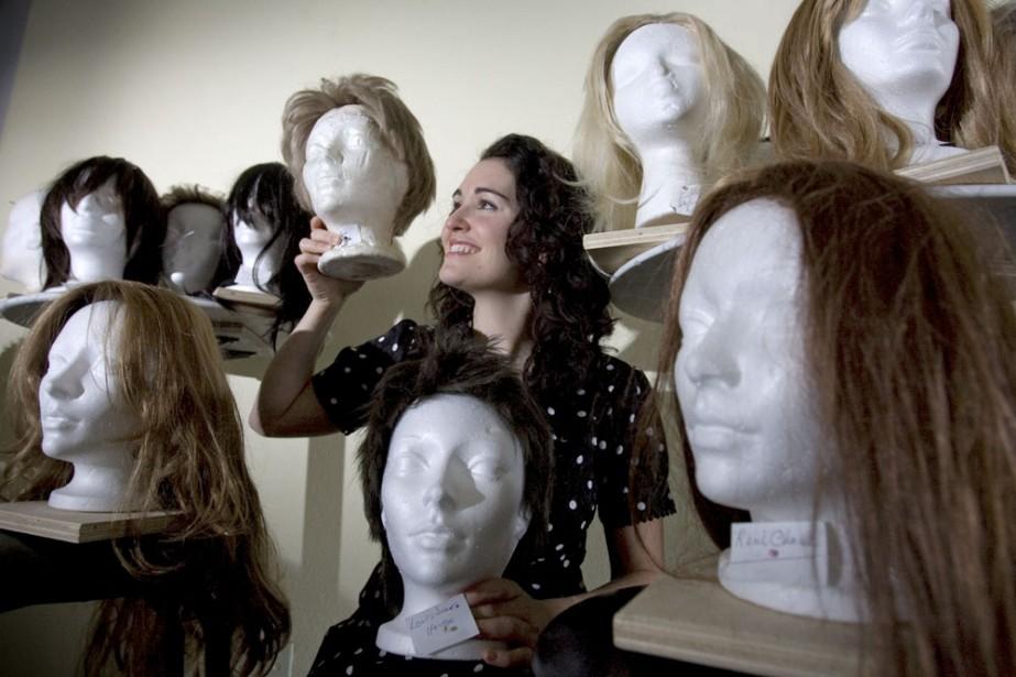 Parmi les perruques que portera Tammy Verge dans... (Photo: Alain Roberge, La Presse)