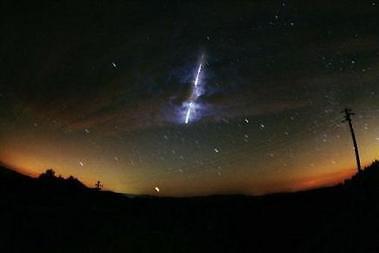 Chute d'une météorite aux États-Unis en 2000.... (Photo: archives AFP)