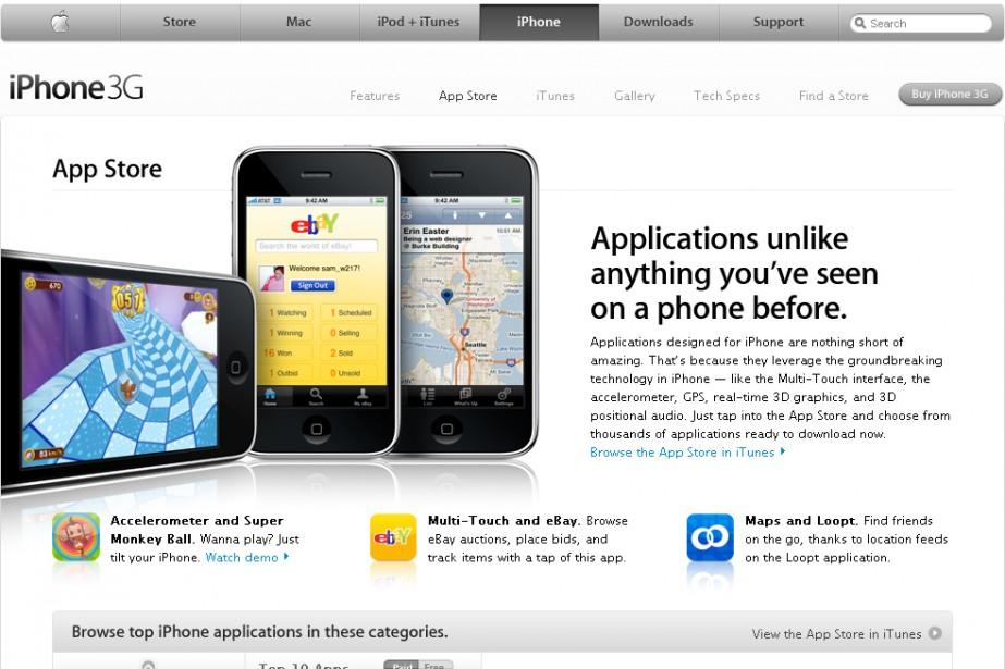 L'App Store d'Apple...