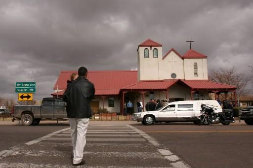 L'église batiste de St. Johns, en Arizona, où... (Photo: AP)