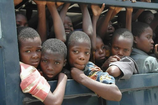 Des enfants esclaves venant du Nigeria.... (Photo: AFP)