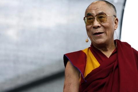 Le dalaï lama achevait vendredi une visite de... (Photo: Bloomberg News)