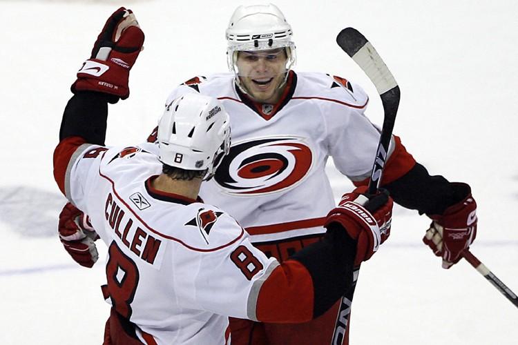 Sergei Samsonov (à droite) a marqué le but... (Photo: AP)