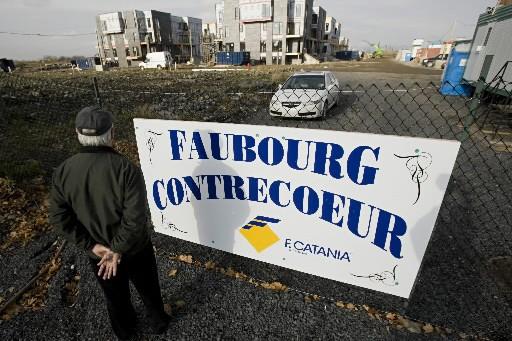Le Faubourg Contrecoeur, un projet résidentiel dans l'est... (Photo: David Boily, Archives La Presse)
