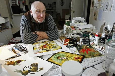 L'illustrateur québécois Pol Turgeon travaille presque exclusivement aux... (Photo: Robert Mailloux, La Presse)